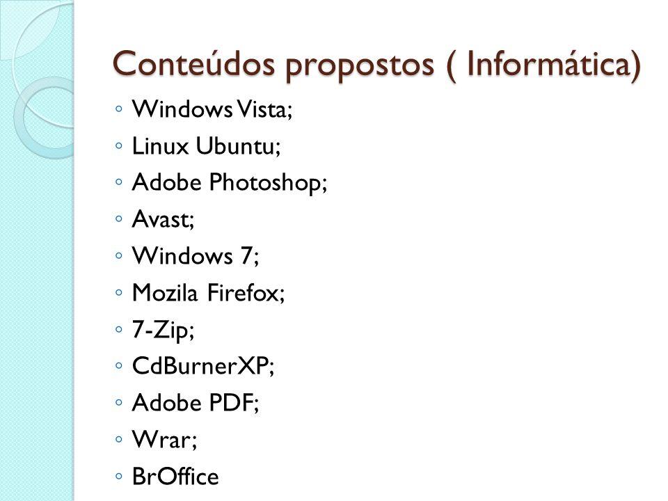 Conteúdos propostos ( Informática)