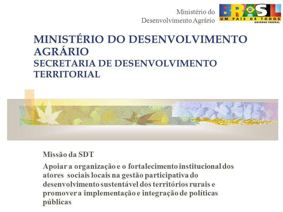 MINISTÉRIO DO DESENVOLVIMENTO AGRÁRIO SECRETARIA DE DESENVOLVIMENTO TERRITORIAL
