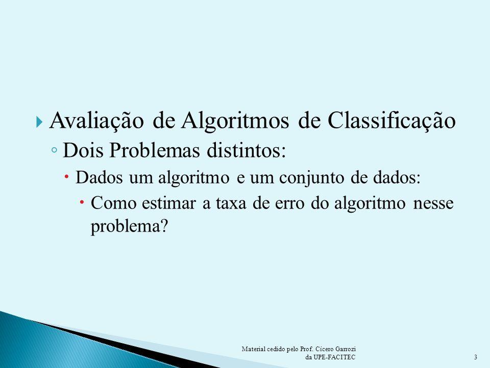 Avaliação de Algoritmos de Classificação