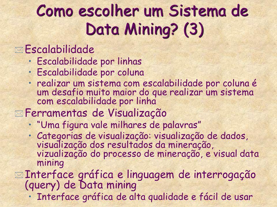 Como escolher um Sistema de Data Mining (3)