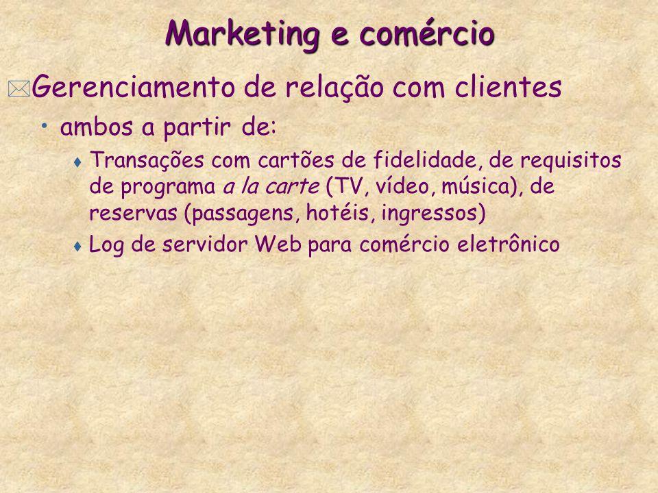 Marketing e comércio Gerenciamento de relação com clientes