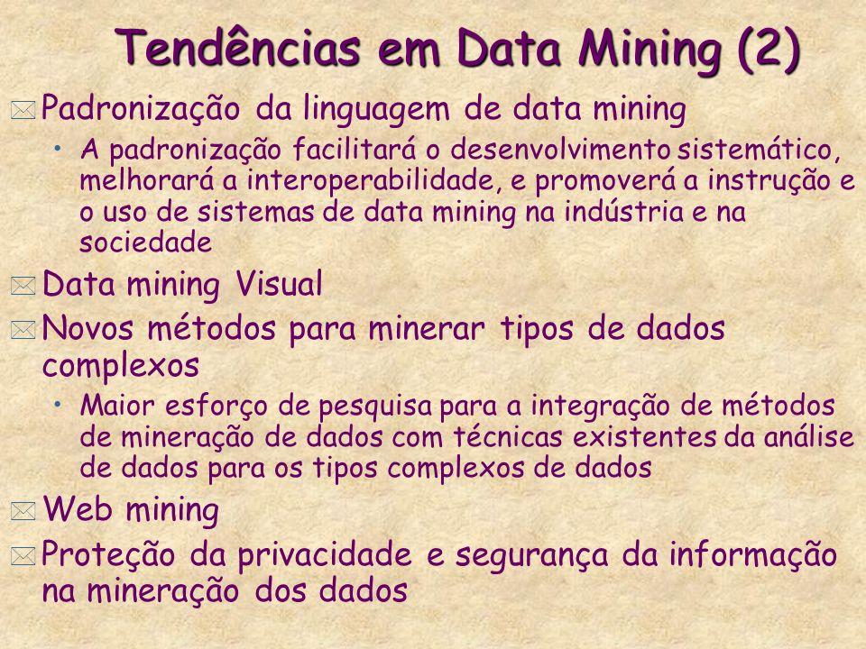 Tendências em Data Mining (2)
