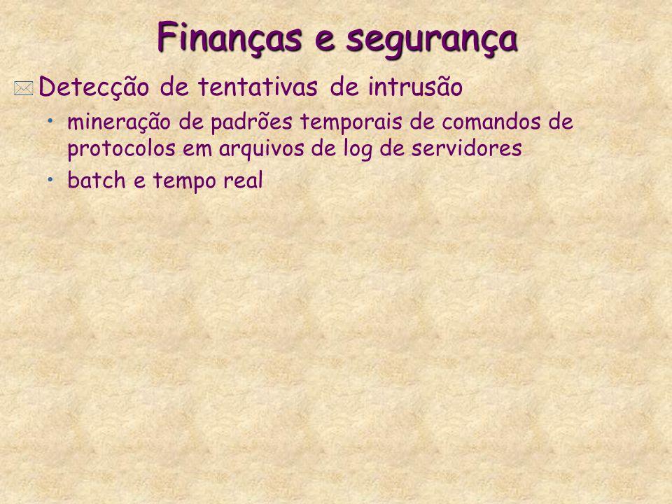 Finanças e segurança Detecção de tentativas de intrusão