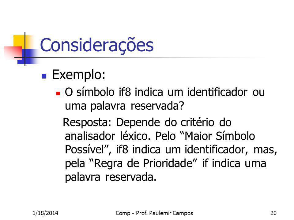Comp - Prof. Paulemir Campos