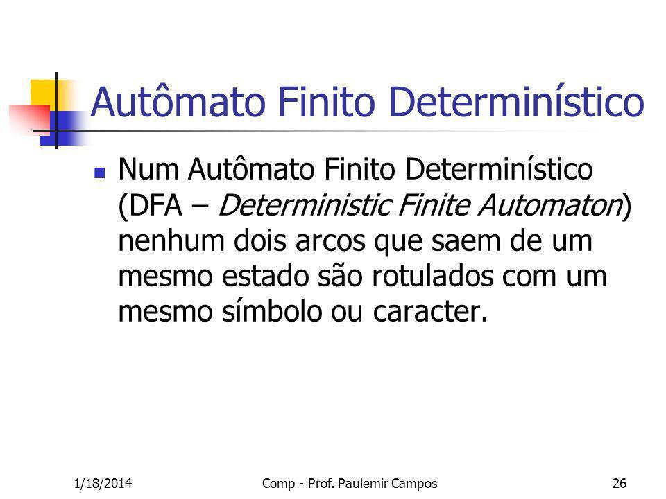 Autômato Finito Determinístico