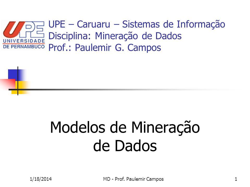 Modelos de Mineração de Dados