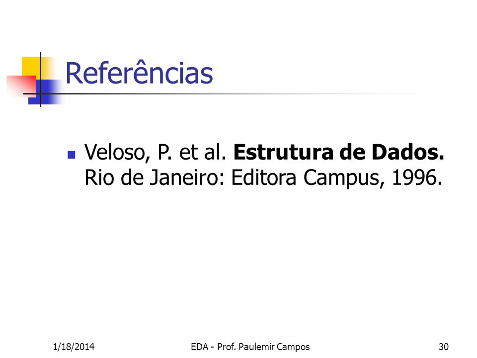 EDA - Prof. Paulemir Campos