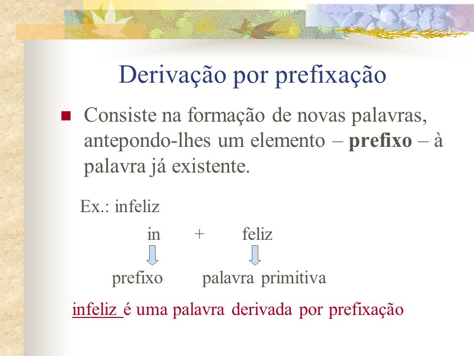 Derivação por prefixação