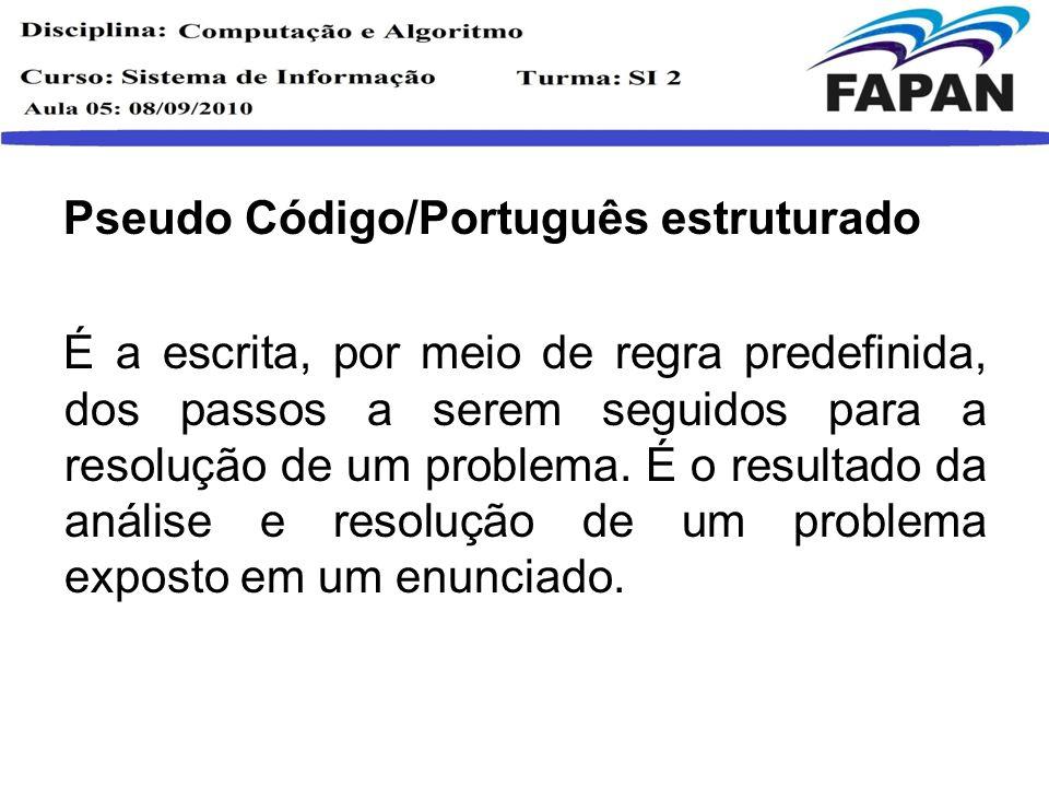 Pseudo Código/Português estruturado
