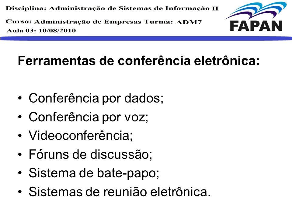Ferramentas de conferência eletrônica: