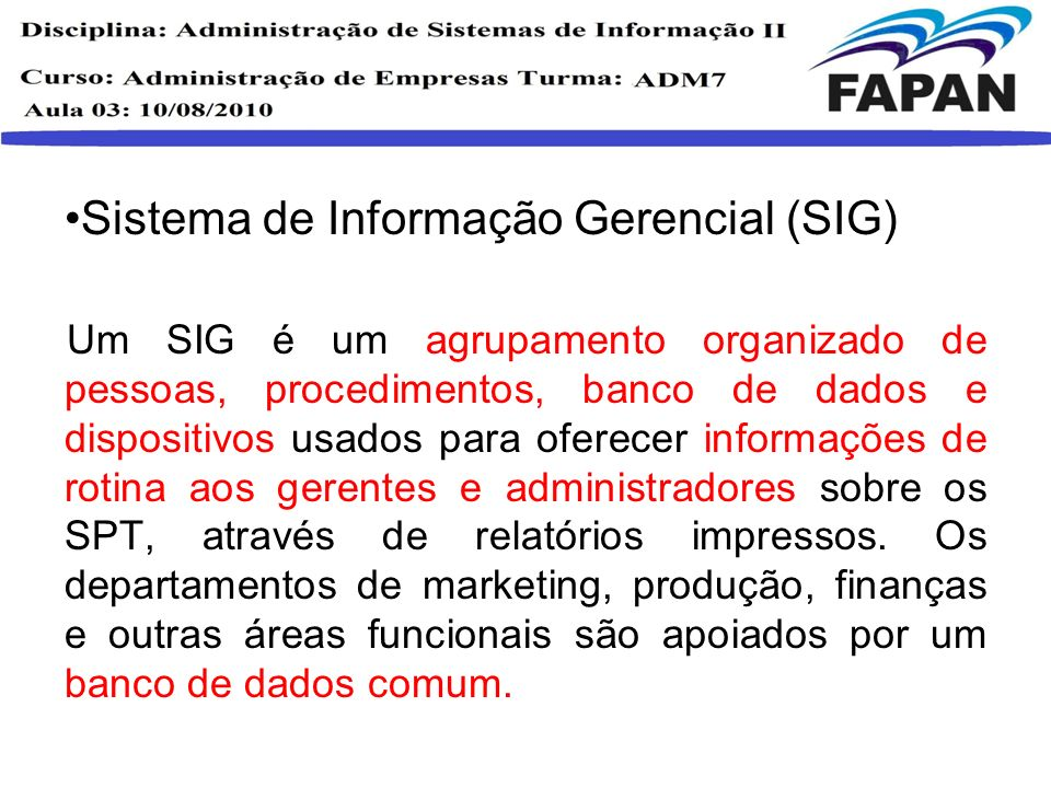 Sistema de Informação Gerencial (SIG)