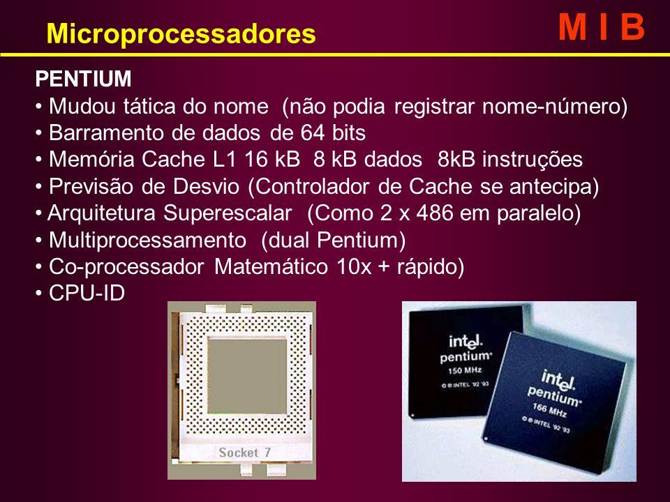 M I B Microprocessadores PENTIUM
