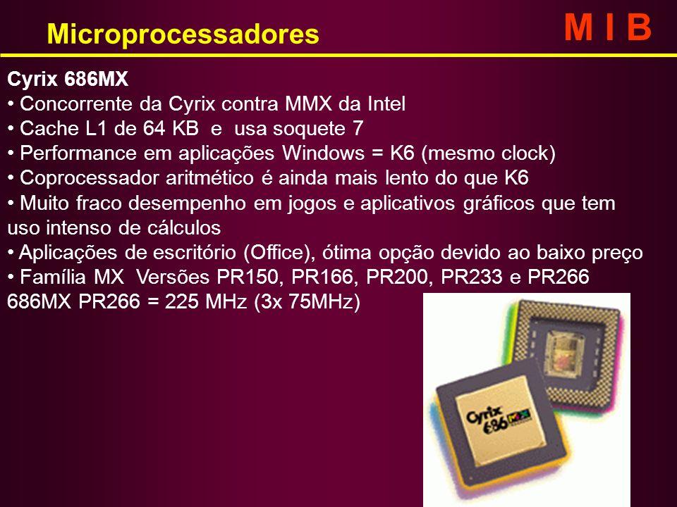 M I B Microprocessadores Cyrix 686MX