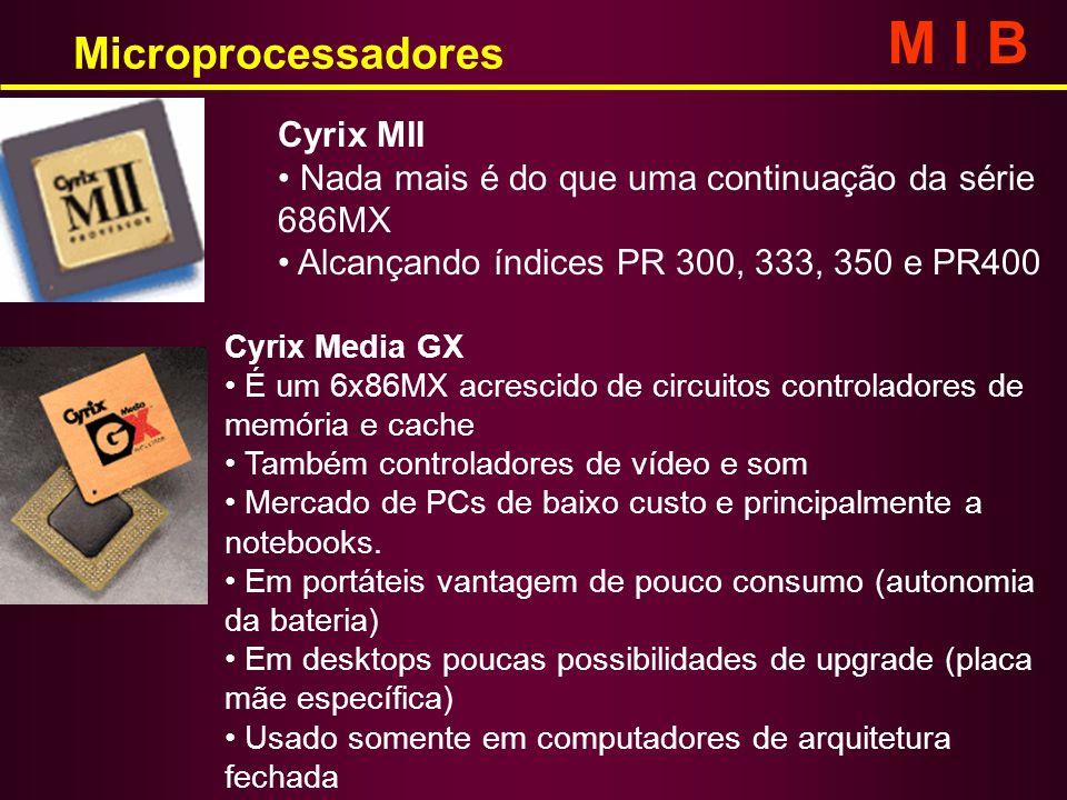 M I B Microprocessadores Cyrix MII