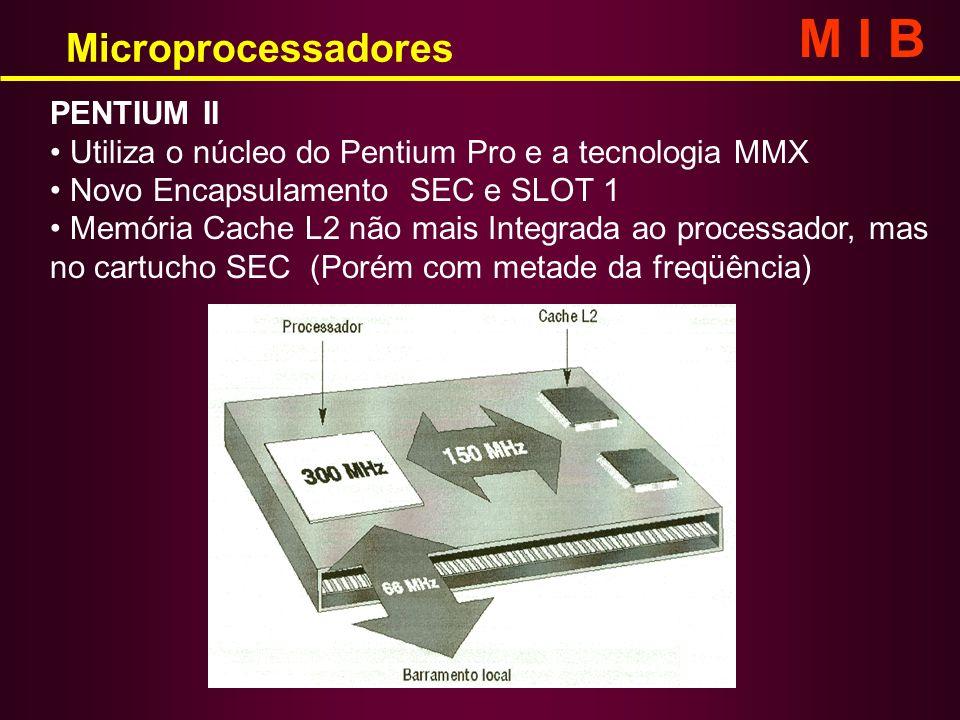 M I B Microprocessadores PENTIUM II