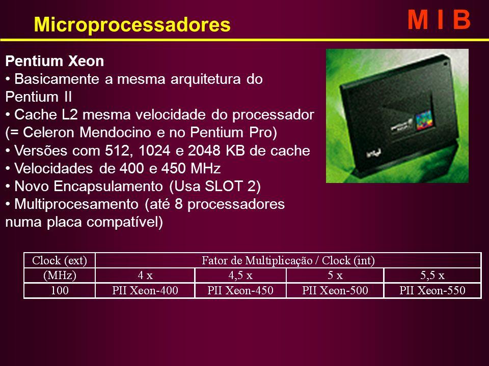 M I B Microprocessadores Pentium Xeon