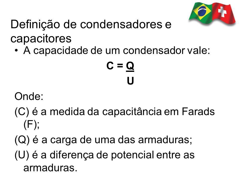 Definição de condensadores e capacitores
