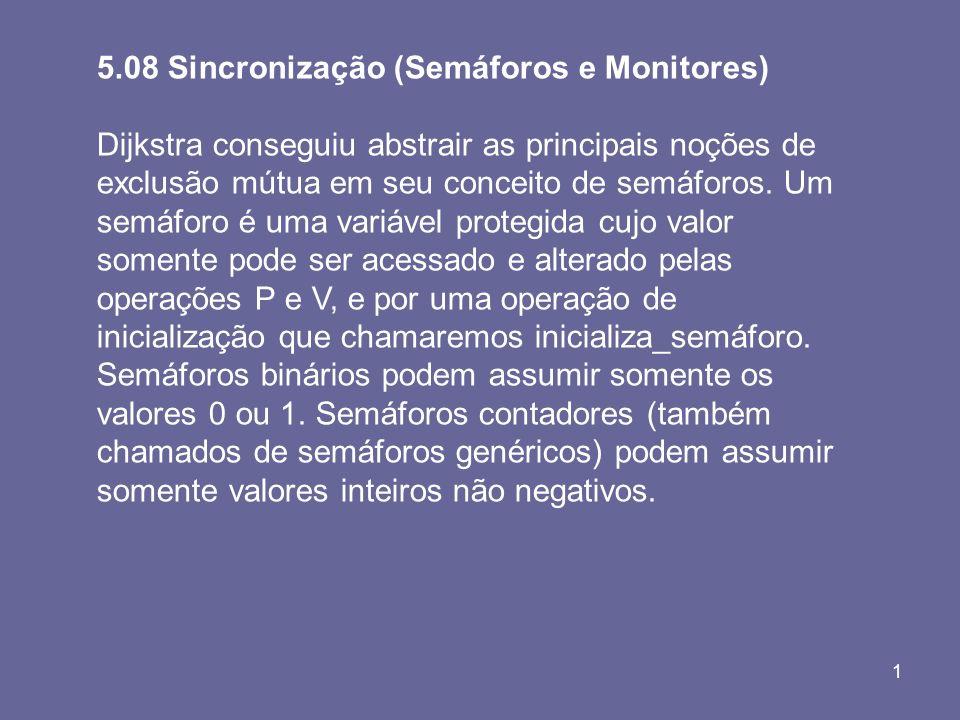 5.08 Sincronização (Semáforos e Monitores)