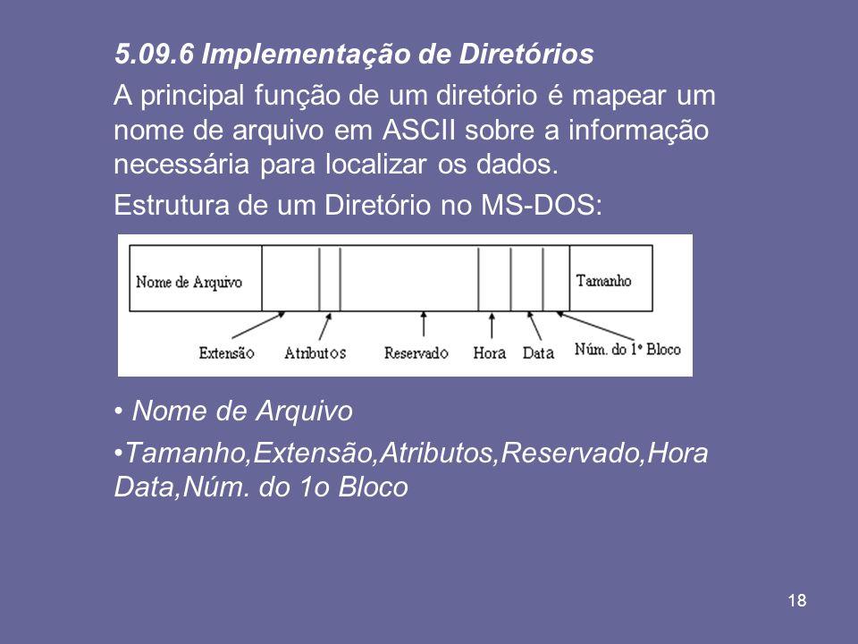 5.09.6 Implementação de Diretórios
