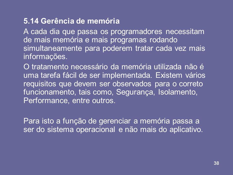 5.14 Gerência de memória