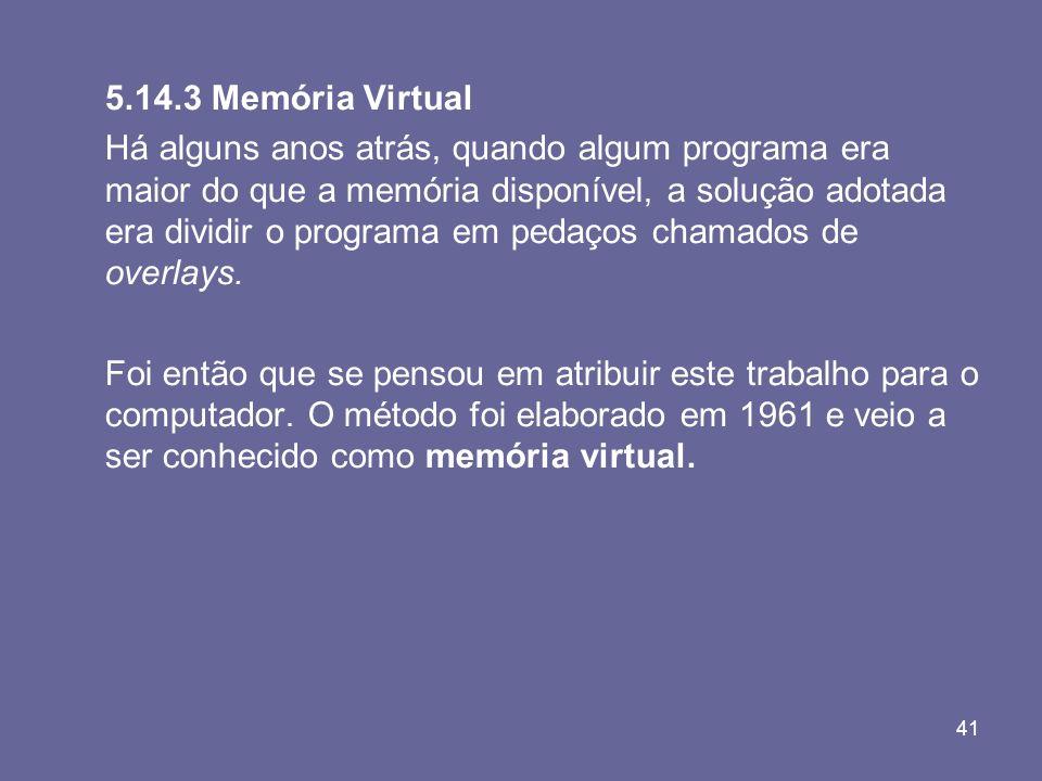 5.14.3 Memória Virtual