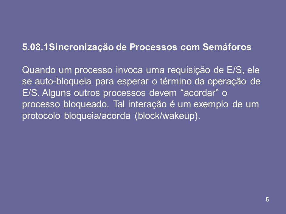 5.08.1Sincronização de Processos com Semáforos