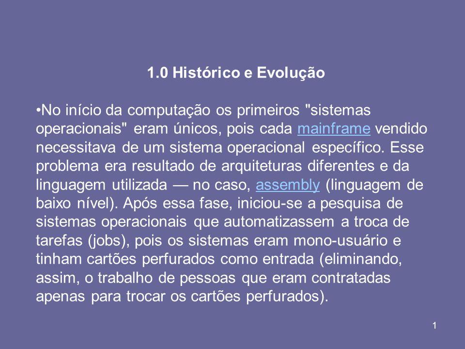 1.0 Histórico e Evolução