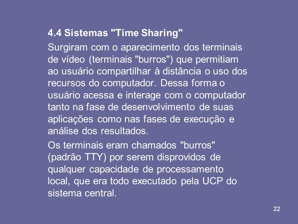 4.4 Sistemas Time Sharing