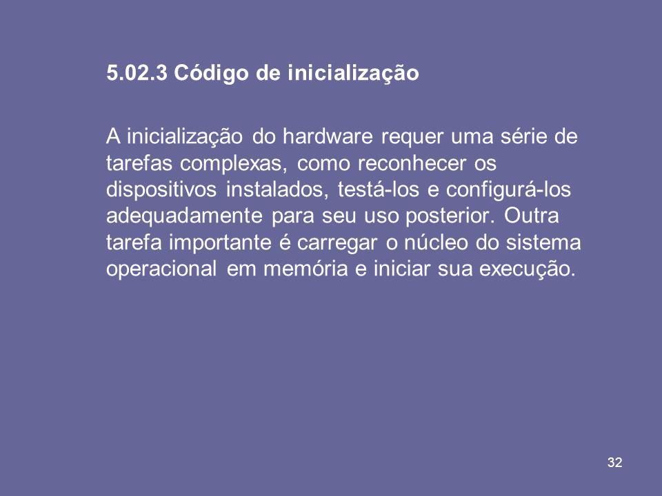 5.02.3 Código de inicialização