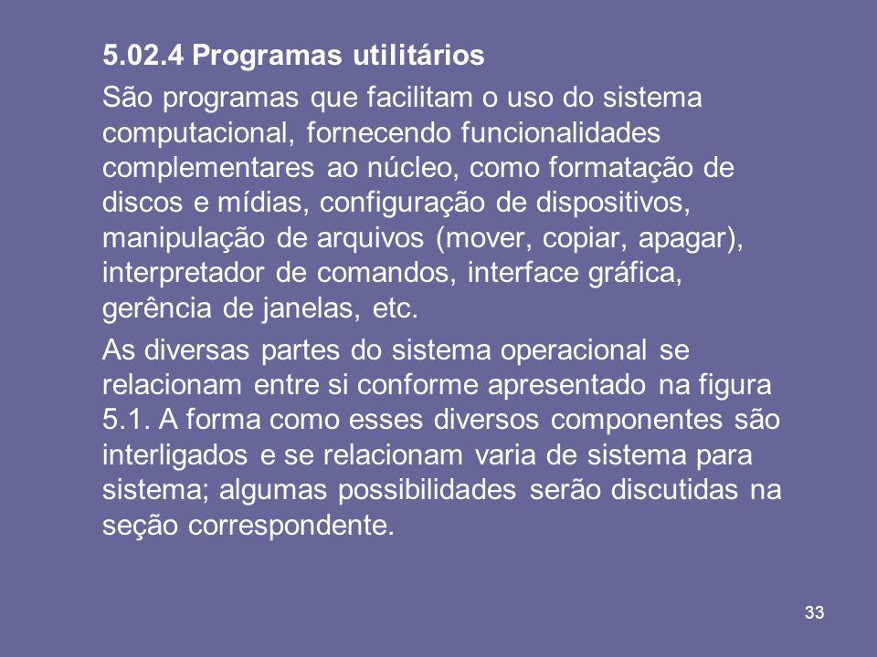 5.02.4 Programas utilitários