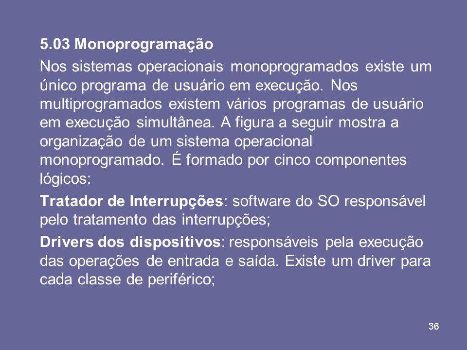 5.03 Monoprogramação