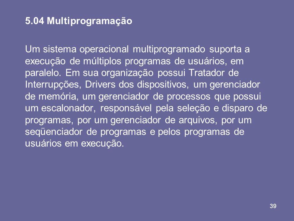 5.04 Multiprogramação