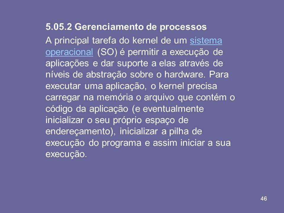5.05.2 Gerenciamento de processos