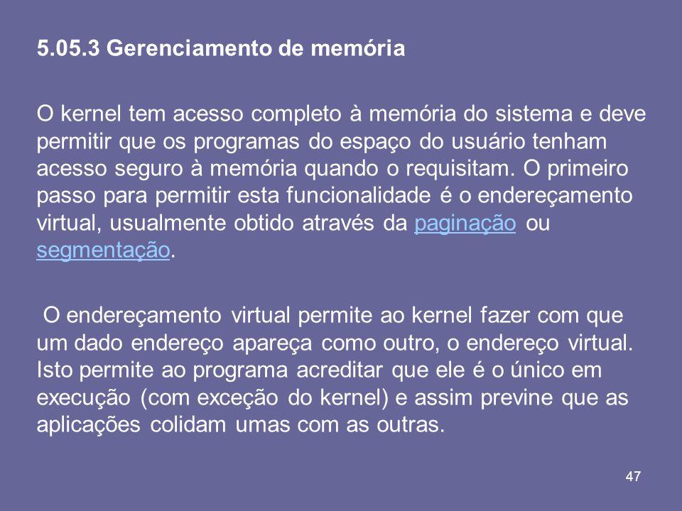 5.05.3 Gerenciamento de memória