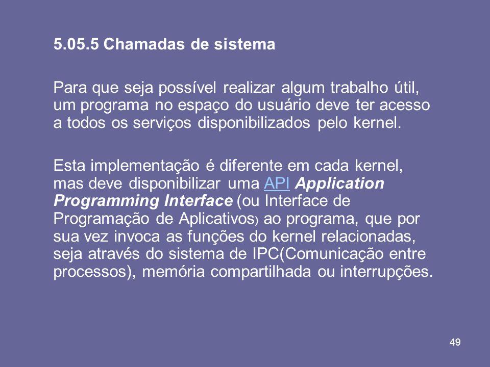 5.05.5 Chamadas de sistema