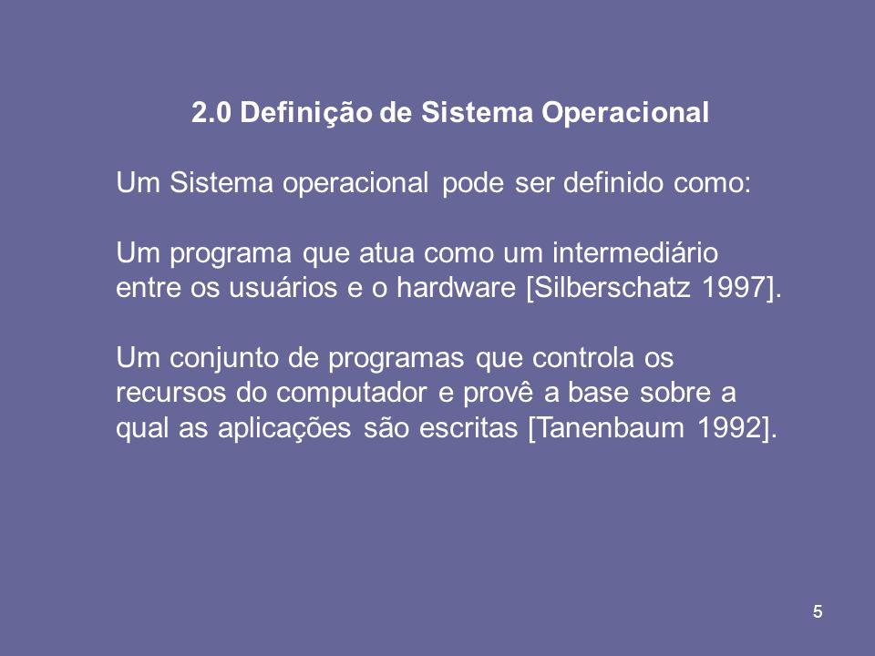 2.0 Definição de Sistema Operacional
