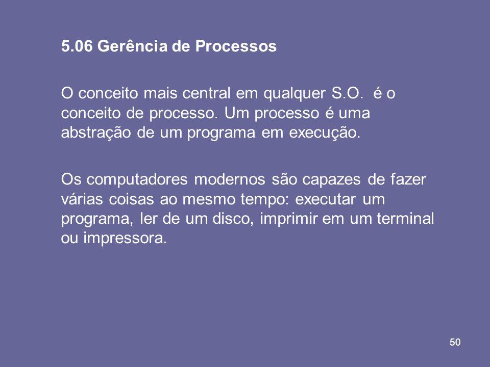 5.06 Gerência de Processos