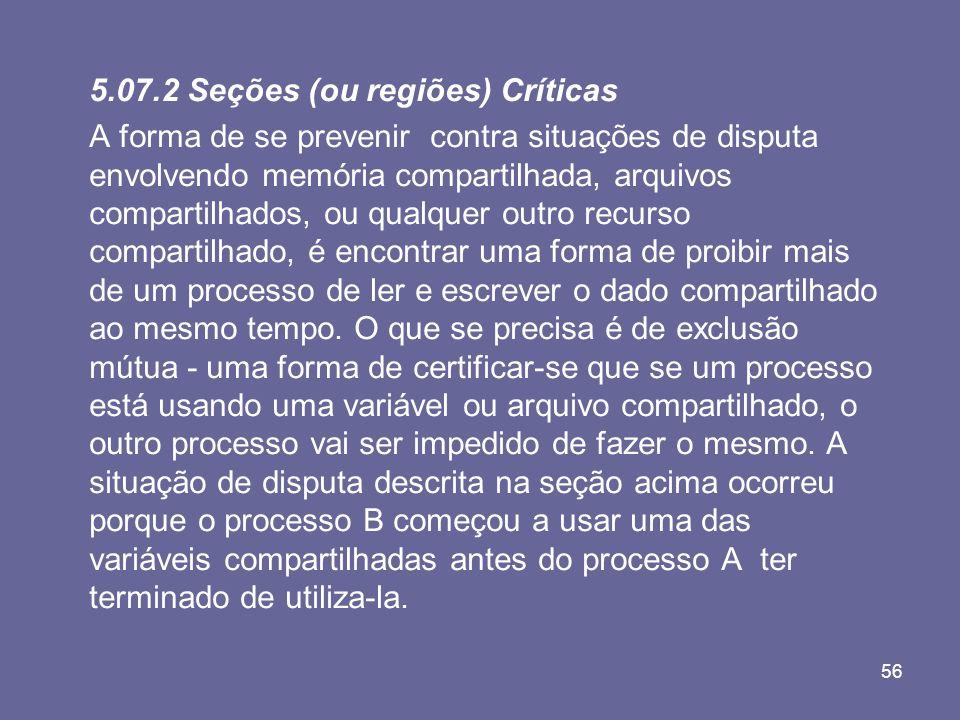 5.07.2 Seções (ou regiões) Críticas