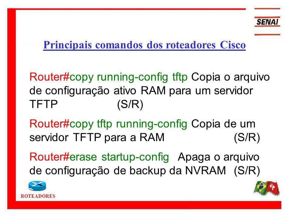 Principais comandos dos roteadores Cisco