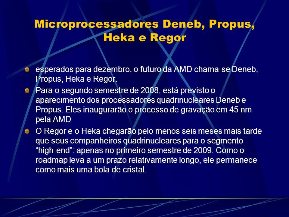 Microprocessadores Deneb, Propus, Heka e Regor