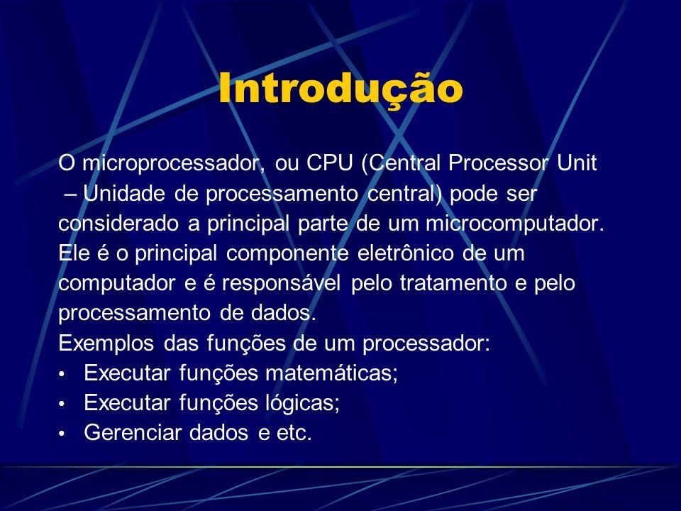 Introdução O microprocessador, ou CPU (Central Processor Unit