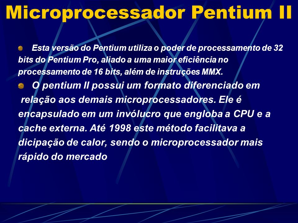 Microprocessador Pentium II