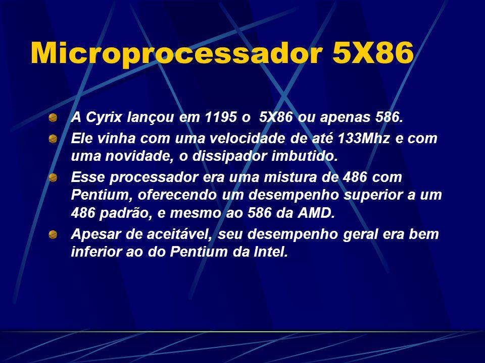 Microprocessador 5X86 A Cyrix lançou em 1195 o 5X86 ou apenas 586.