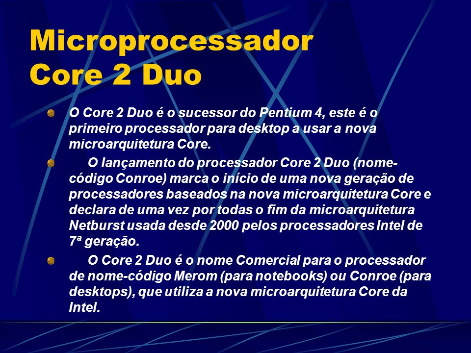 Microprocessador Core 2 Duo