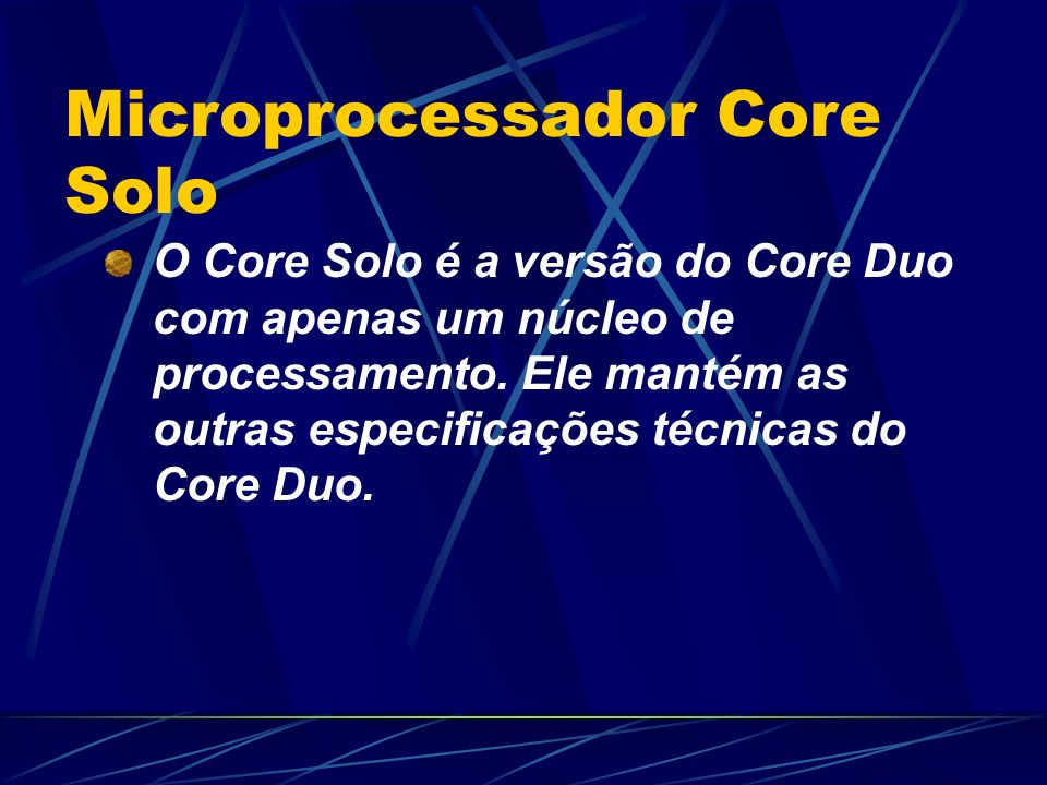 Microprocessador Core Solo