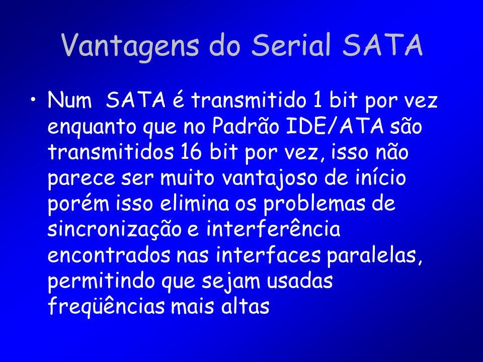 Vantagens do Serial SATA