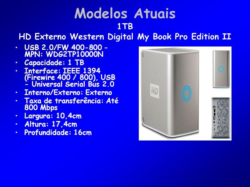Modelos Atuais 1TB HD Externo Western Digital My Book Pro Edition II