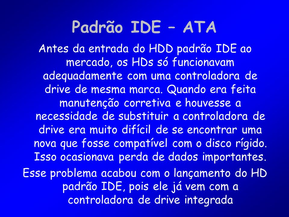 Padrão IDE – ATA