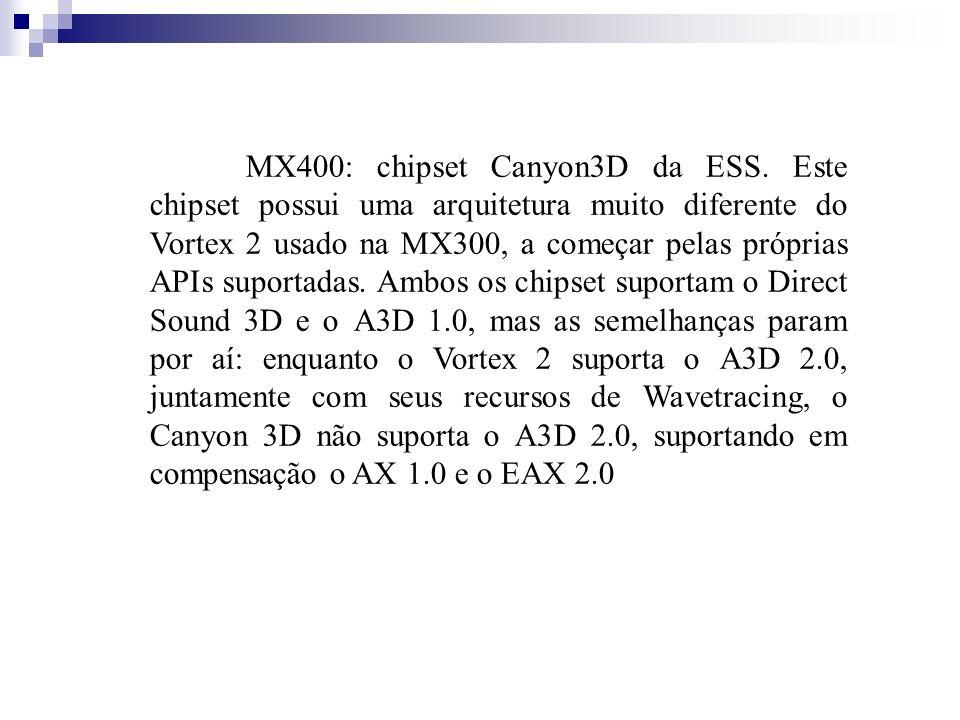 MX400: chipset Canyon3D da ESS