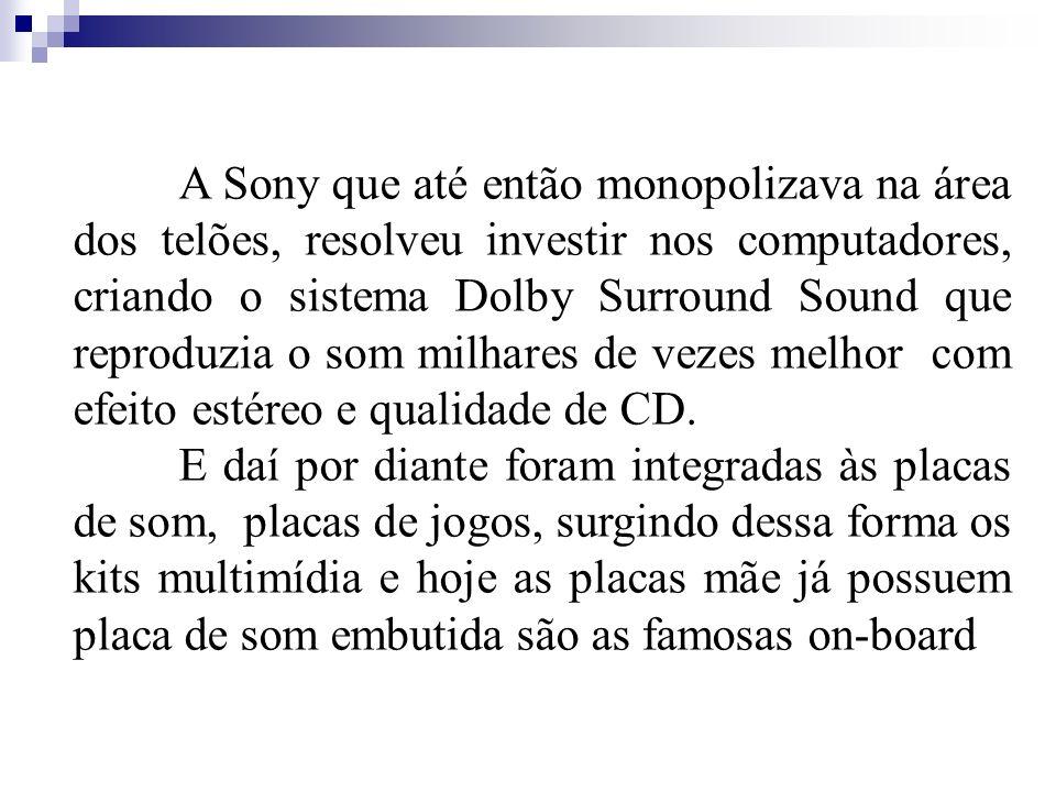 A Sony que até então monopolizava na área dos telões, resolveu investir nos computadores, criando o sistema Dolby Surround Sound que reproduzia o som milhares de vezes melhor com efeito estéreo e qualidade de CD.